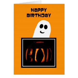 Tarjeta de cumpleaños de Halloween -- Bueno fantas