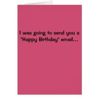 Tarjeta de cumpleaños de Hillary Clinton