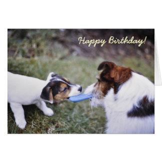 Tarjeta de cumpleaños de Jack Russell