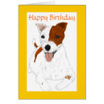 Tarjeta de cumpleaños de Jack Russell Terrier