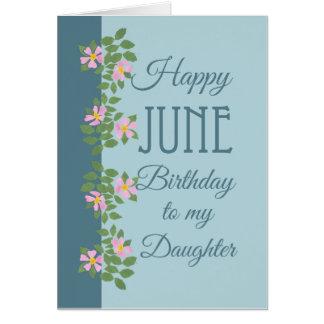 Tarjeta de cumpleaños de junio para la hija: Dogro