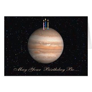 Tarjeta de cumpleaños de Júpiter del planeta