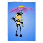 Tarjeta de cumpleaños de la abeja de la miel