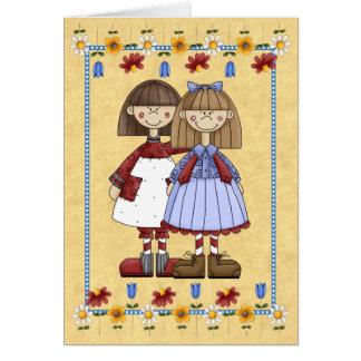 Tarjeta de cumpleaños de la amistad de la hermana