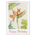 Tarjeta de cumpleaños de la ave del paraíso