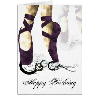 Tarjeta de cumpleaños de la bailarina