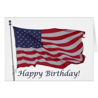 tarjeta de cumpleaños de la bandera americana