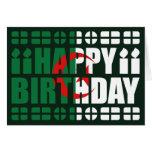 Tarjeta de cumpleaños de la bandera de Argelia