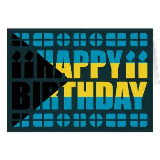 Tarjeta de cumpleaños de la bandera de Bahamas