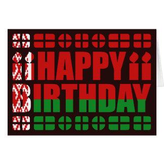Tarjeta de cumpleaños de la bandera de Bielorrusia