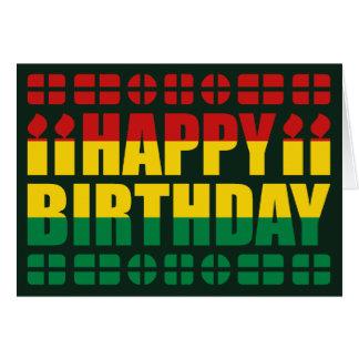 Tarjeta de cumpleaños de la bandera de Bolivia