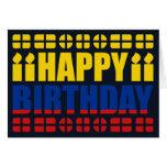 Tarjeta de cumpleaños de la bandera de Colombia
