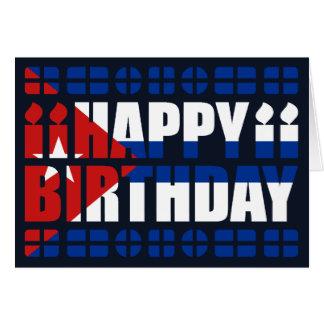 Tarjeta de cumpleaños de la bandera de Cuba