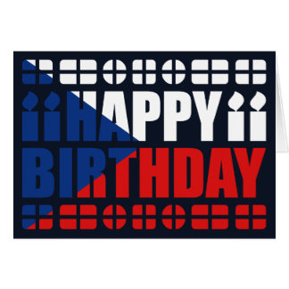 Tarjeta de cumpleaños de la bandera de Czechia