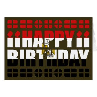 Tarjeta de cumpleaños de la bandera de Egipto