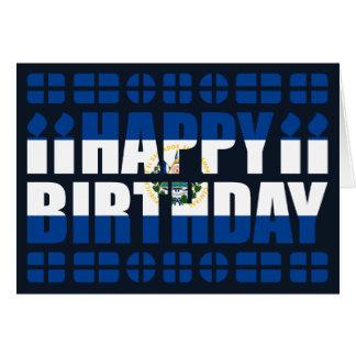 Tarjeta de cumpleaños de la bandera de El Salvador