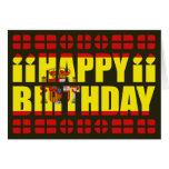 Tarjeta de cumpleaños de la bandera de España