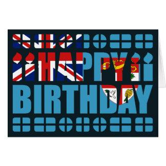 Tarjeta de cumpleaños de la bandera de Fiji