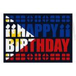 Tarjeta de cumpleaños de la bandera de Filipinas