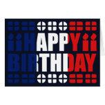 Tarjeta de cumpleaños de la bandera de Francia