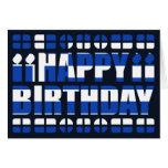Tarjeta de cumpleaños de la bandera de Grecia