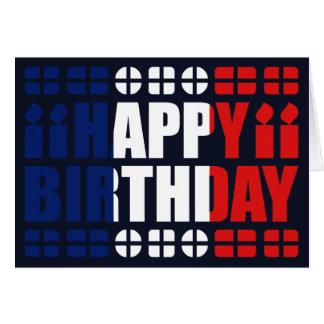 Tarjeta de cumpleaños de la bandera de Guyane