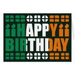 Tarjeta de cumpleaños de la bandera de Irlanda