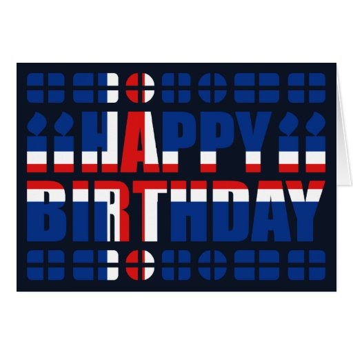 Tarjeta de cumpleaños de la bandera de Islandia