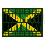 Tarjeta de cumpleaños de la bandera de Jamaica
