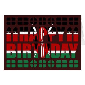 Tarjeta de cumpleaños de la bandera de Kenia