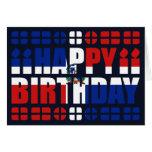 Tarjeta de cumpleaños de la bandera de la