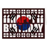 Tarjeta de cumpleaños de la bandera de la Corea de