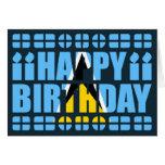 Tarjeta de cumpleaños de la bandera de la Santa Lu
