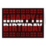 Tarjeta de cumpleaños de la bandera de Letonia