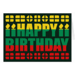 Tarjeta de cumpleaños de la bandera de Lituania