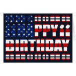 Tarjeta de cumpleaños de la bandera de los