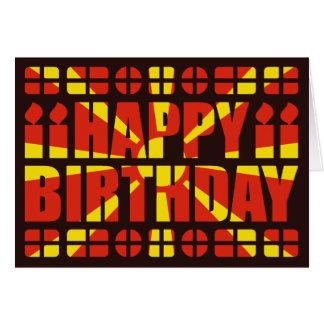 Tarjeta de cumpleaños de la bandera de Macedonia