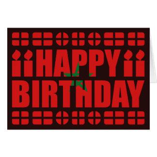 Tarjeta de cumpleaños de la bandera de Marruecos