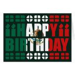 Tarjeta de cumpleaños de la bandera de México