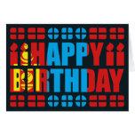 Tarjeta de cumpleaños de la bandera de Mongolia