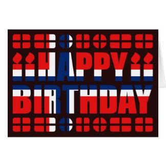 Tarjeta de cumpleaños de la bandera de Noruega