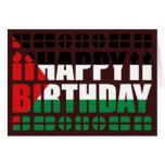 Tarjeta de cumpleaños de la bandera de Palestina