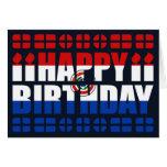 Tarjeta de cumpleaños de la bandera de Paraguay