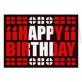 Tarjeta de cumpleaños de la bandera de Perú
