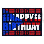 Tarjeta de cumpleaños de la bandera de Puerto Rico