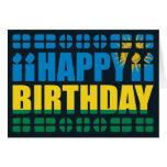 Tarjeta de cumpleaños de la bandera de Rwanda