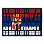 Tarjeta de cumpleaños de la bandera de Serbia