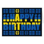 Tarjeta de cumpleaños de la bandera de Suecia