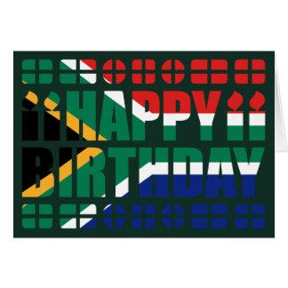 Tarjeta de cumpleaños de la bandera de Suráfrica