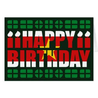 Tarjeta de cumpleaños de la bandera de Suriname